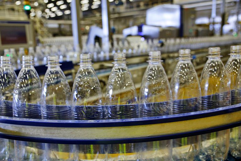 Mineral water production, bottling plant