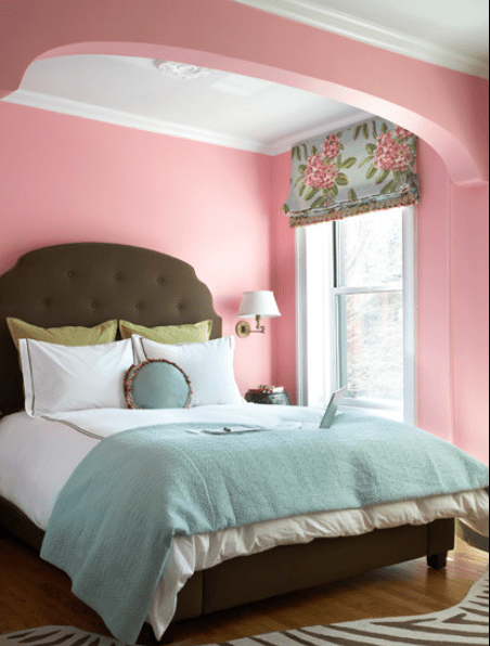 Pink And Blue Furniture. Pink Floral Bedspreads And Blue Comforter ...