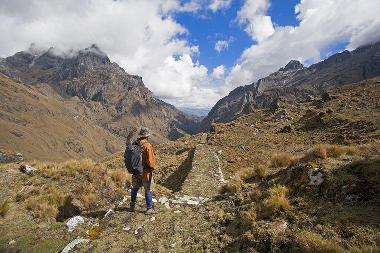 Modern Traveler on the Inca Road to Choquequirao