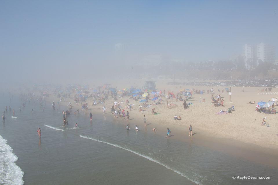 The Marine Layer over Santa Monica Beach