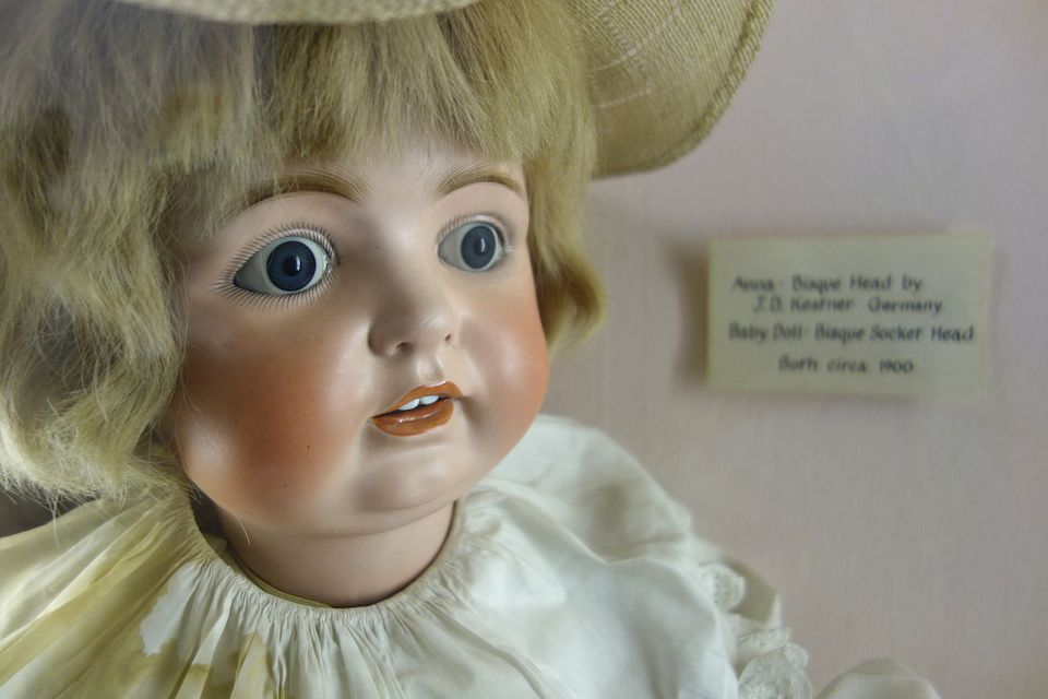 Doll exhibit in the Fairbanks Museum and Planetarium, St. Johnsbury, Vermont, USA