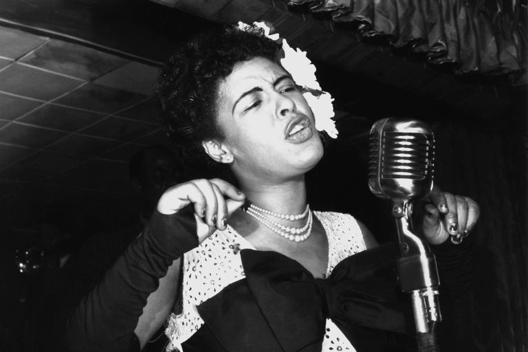 A picture of Billie Holiday, one of the greatest jazz singers of all time.