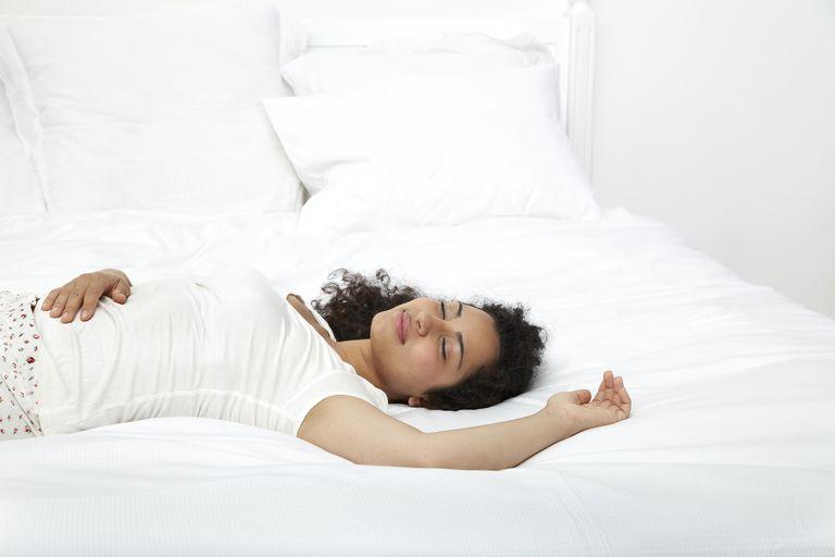 Women reclining in bed