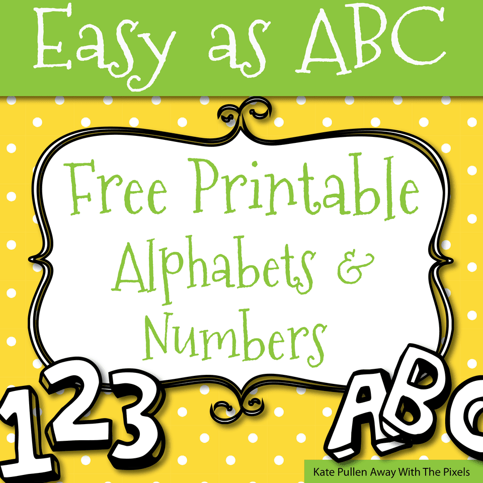 Printable alphabet letters and numbers