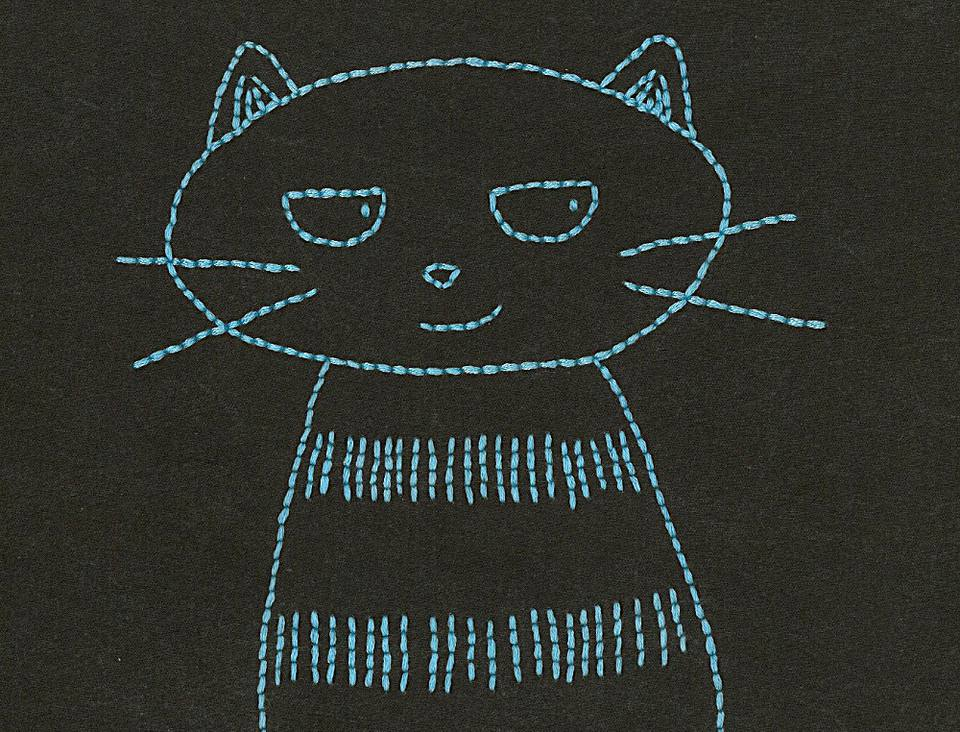10 free embroidery patterns for beginners sly cat hand embroidery pattern dt1010fo