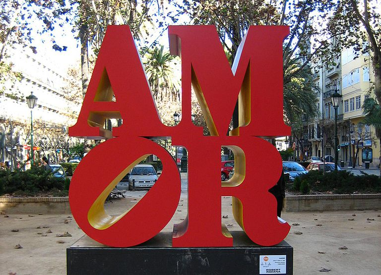 Sculpture by Robert Indiana in Valencia, Spain