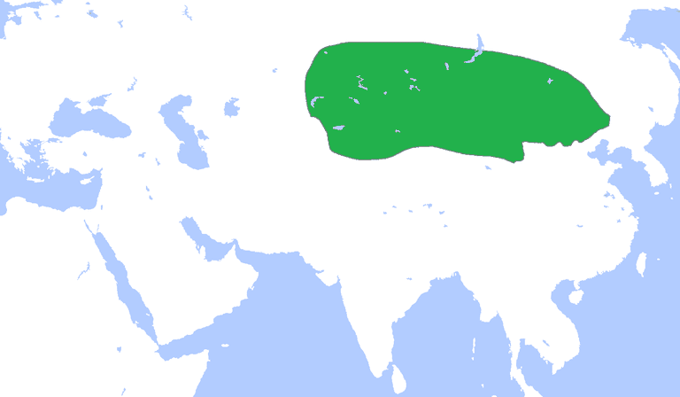 Territory map of the Xiongnu
