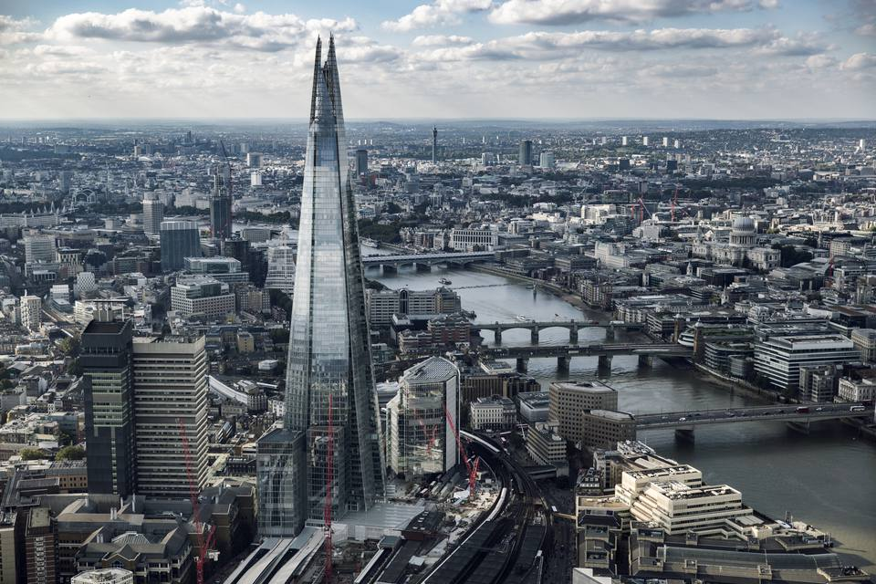 The Shard and London Skyline, London, England, UK