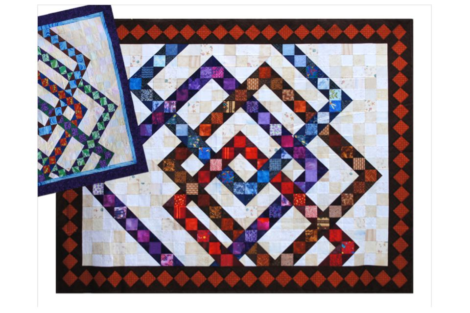 Interwoven Squares, a Contemporary Quilt Pattern : how to make quilt squares - Adamdwight.com