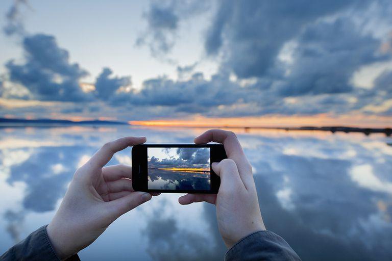 Iphone taking beautiful photo