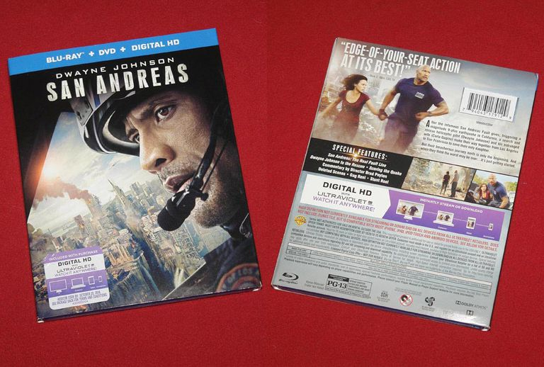 San Andreas Blu-ray/DVD/Digital Copy Package