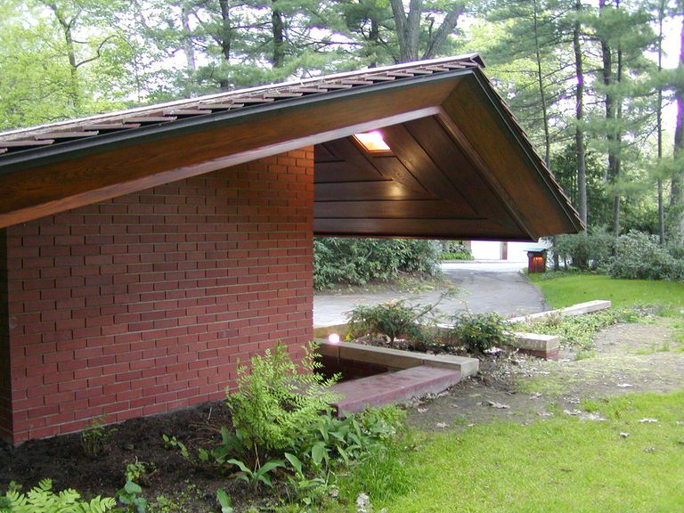 Zimmerman house photos of the new hampshire usonian for Frank lloyd wright stile prateria