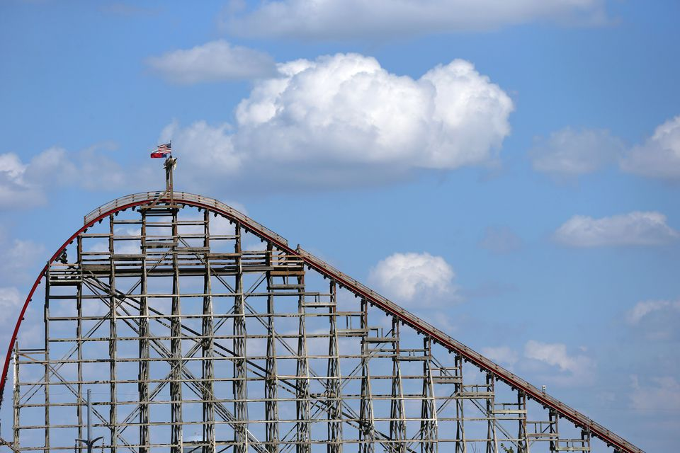 The Texas Giant roller coaster at Six Flags Over Texas.