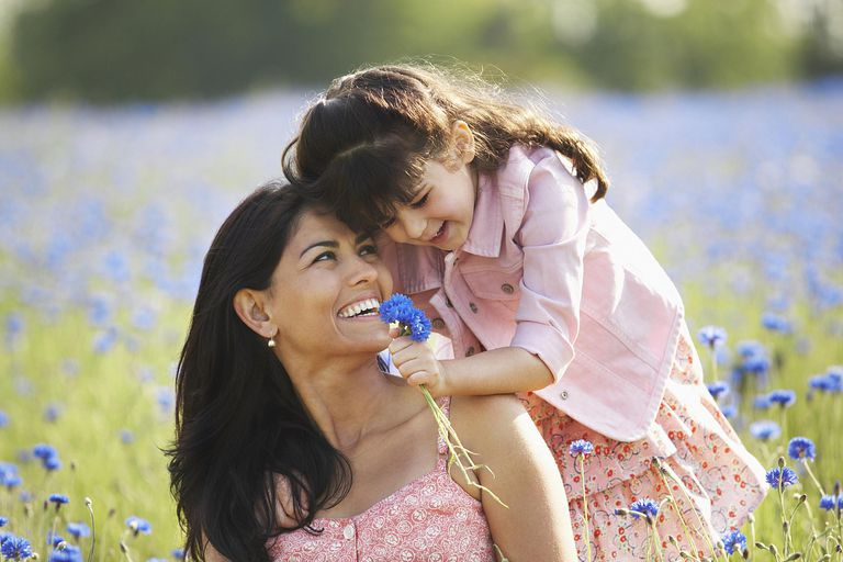 Niña y mamá celebrando el día de la madre