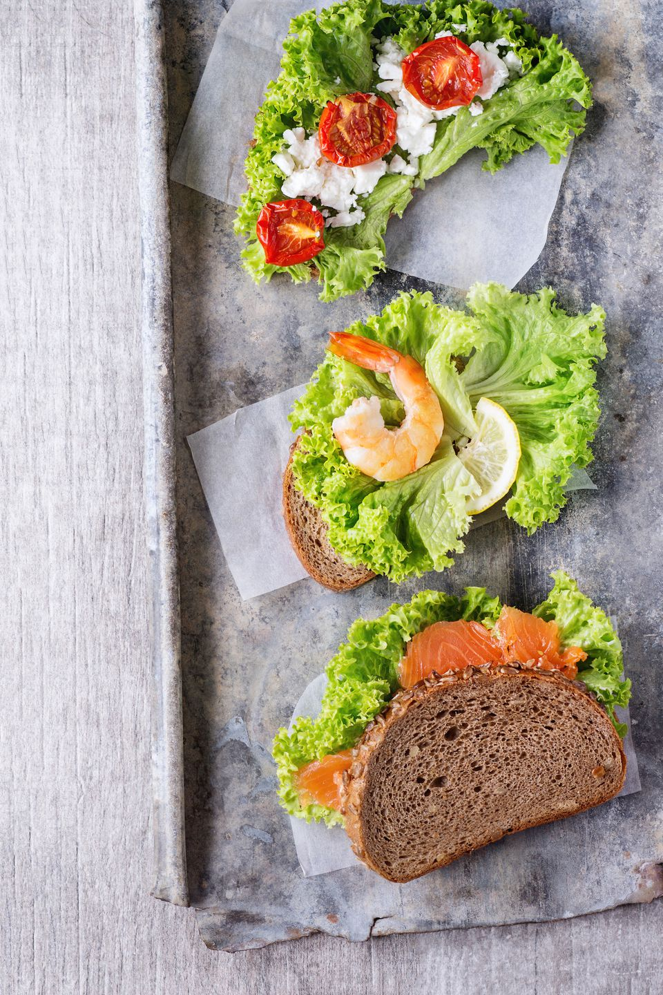 Sandwich with seafood
