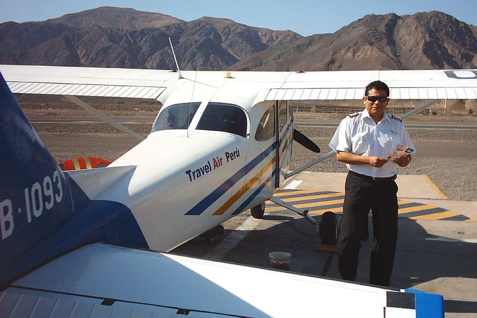Nazca Lines pilot and plane