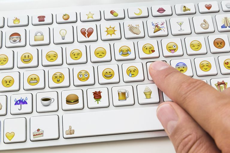 An emoji keyboard.