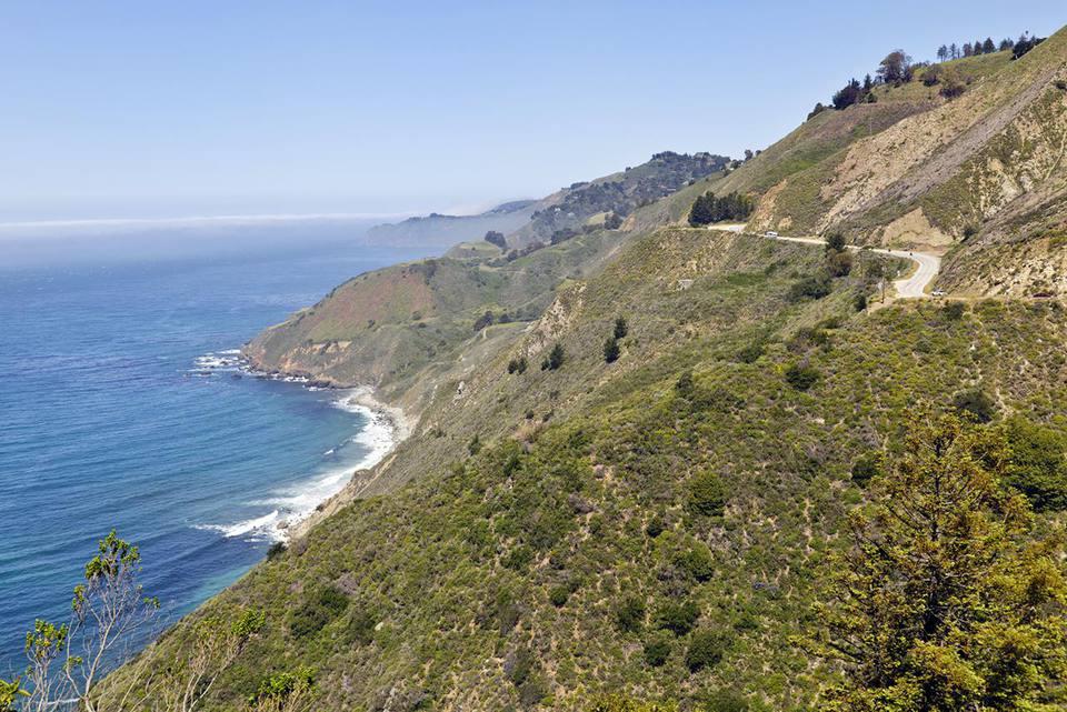 Pacific Coast Highway 1 and Big Sur coastline