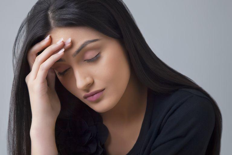 woman feeling ill