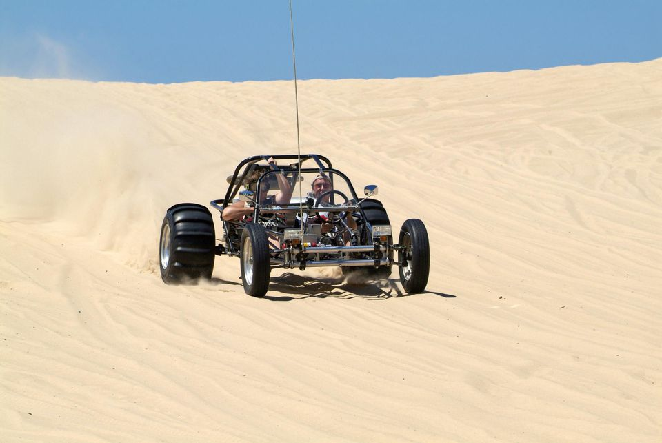People in ATV dune buggies, Sleeping Bear Dunes National Seashore, Michigan