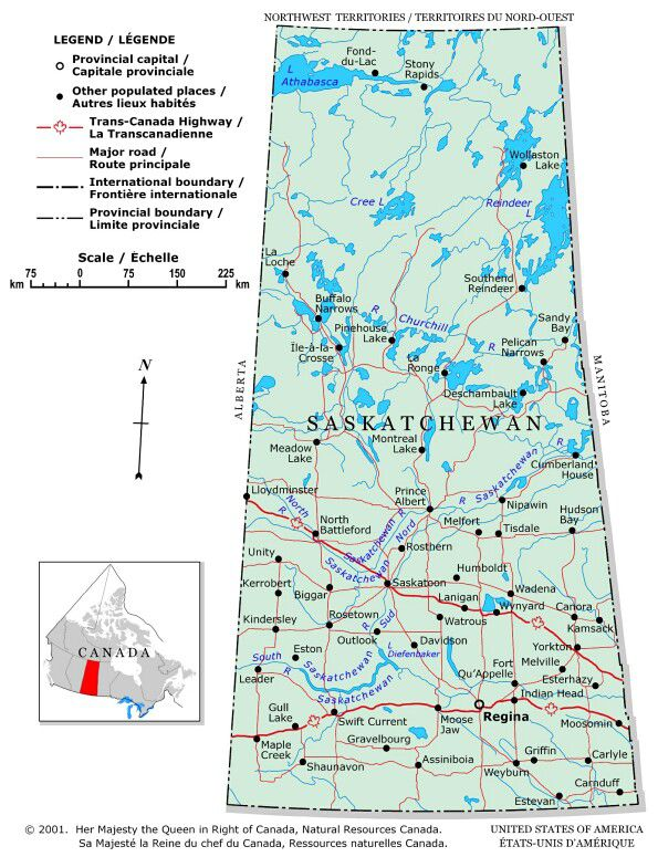 Plan Your Trip With These Maps Of Canada - Map of canada with lakes