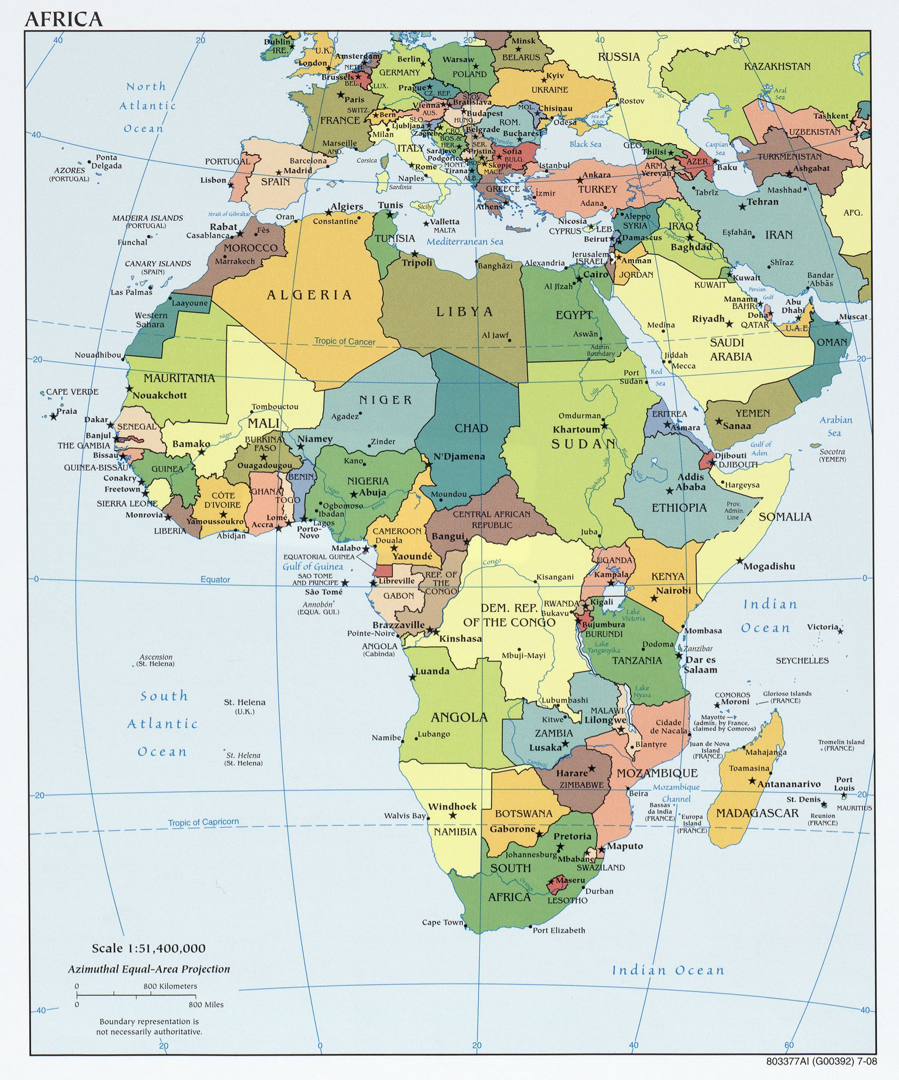 Various Maps Showing How Big Africa Is - Political map of angola