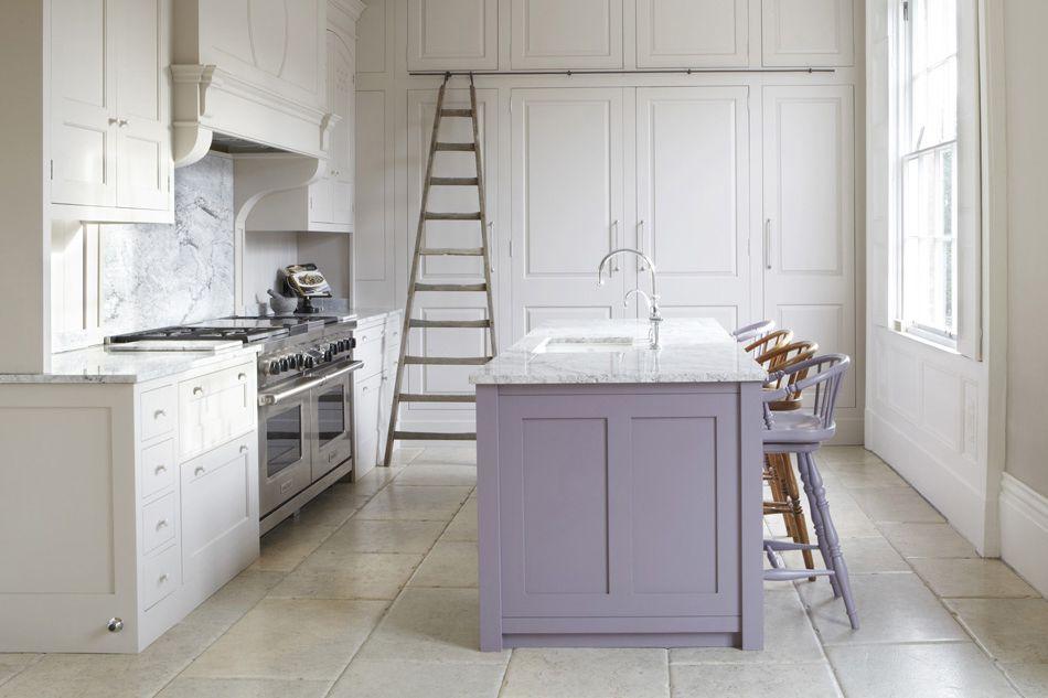 violet kitchen island