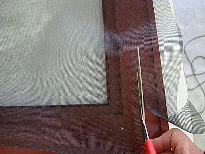 trim excess screen material