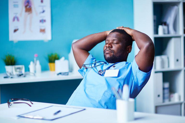 Man resting on the job