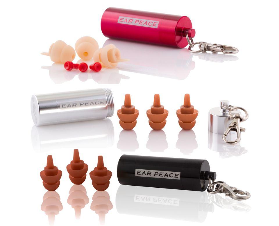 Ear Peace Ear Plugs in three skin tones