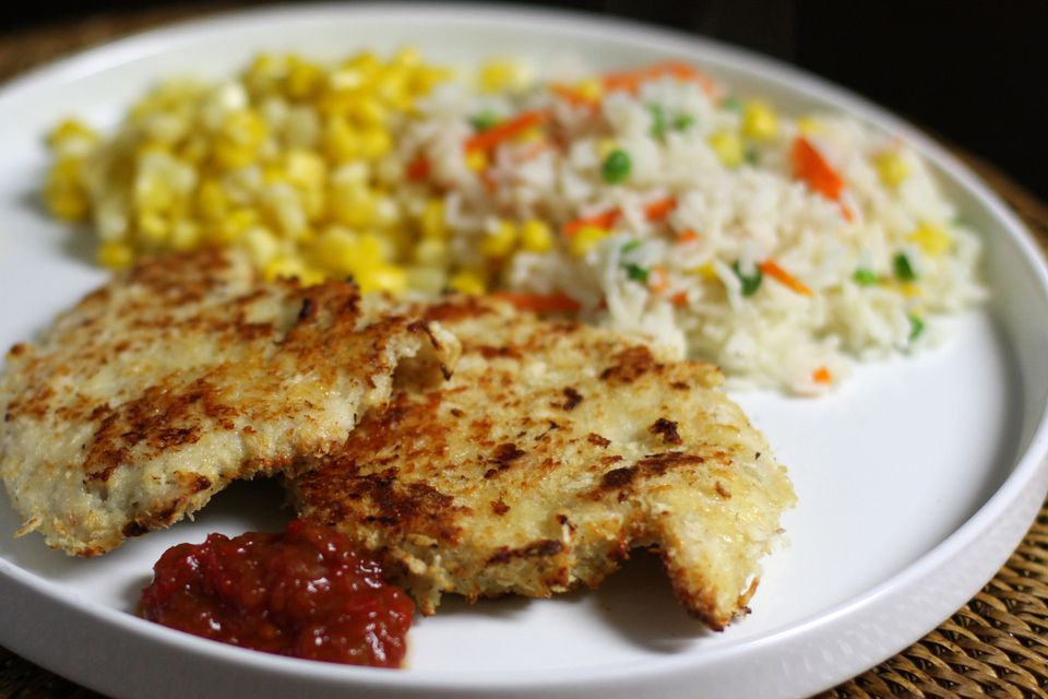 Baked Panko and Parmesan Turkey Cutlets