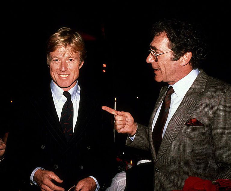 Robert Redford and Director Sydney Pollack attend the New York Premiere of 'Out of Africa'