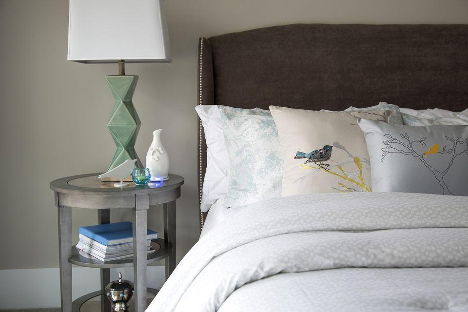 Funky bedside lamp.