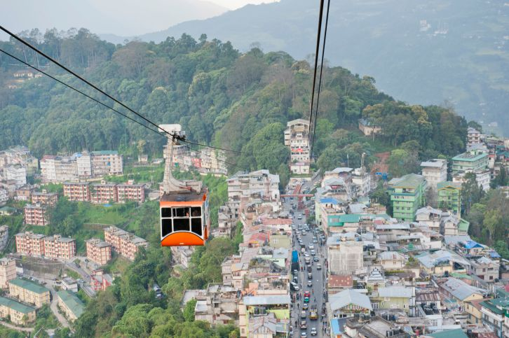 Gangtok cable car.