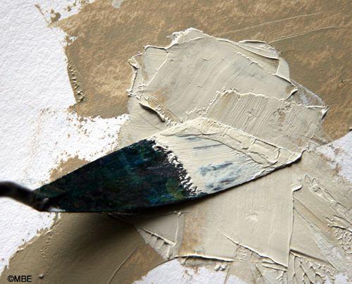 Titanium white mixed in with titanium buff paint.
