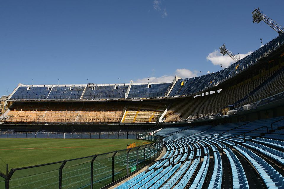 A general view of La Bombonera, the home of Boca Juniors football club, in La Boca district of Buenos Aires on February 11, 2008 in Buenos Aires, Argentina.