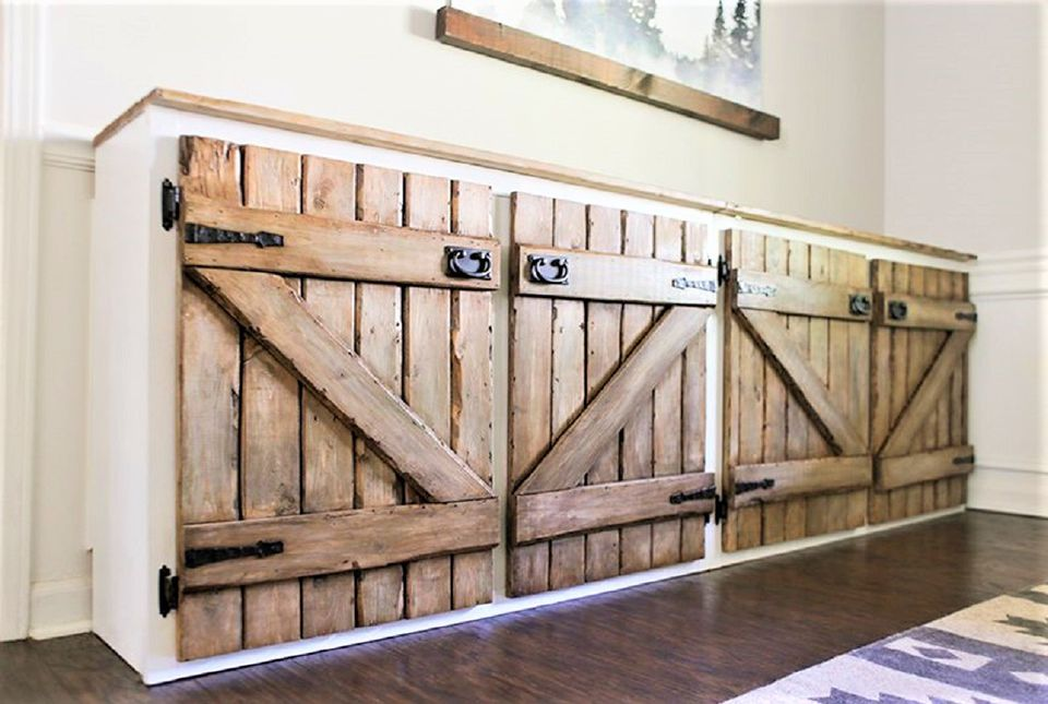 Faux Recycled Barnwood Kitchen Cabinet Doors