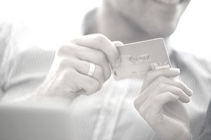 Preparing to make credit card purchase