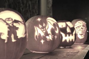 Image of Carved Halloween Pumpkins