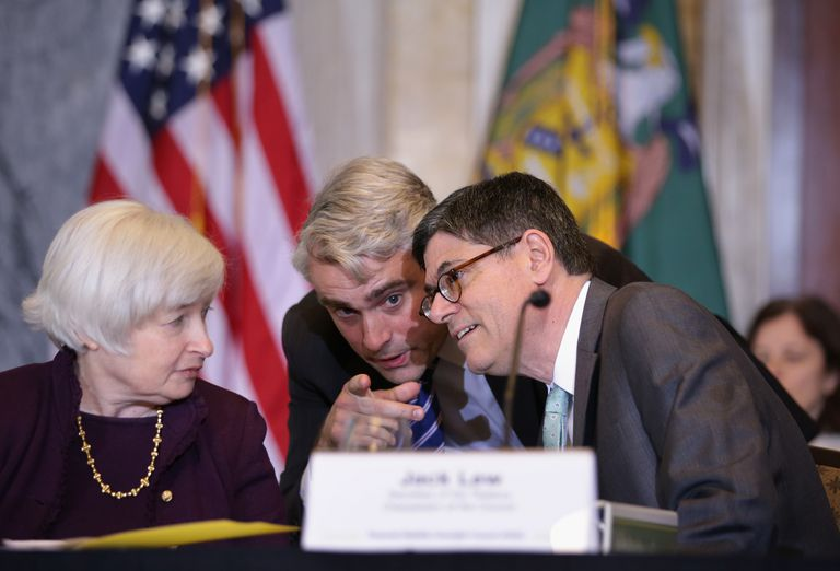 The Federal Reserve and Treasury Dept. set interest rates.