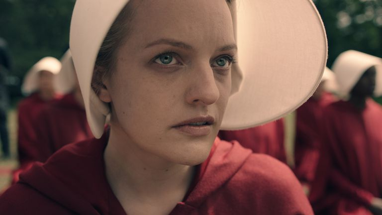 Elizabeth Moss in Hulu's The Handmaid's Tale
