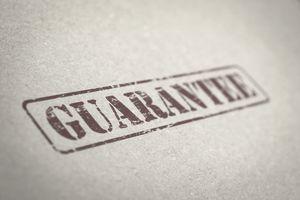 guarantee stamp on file