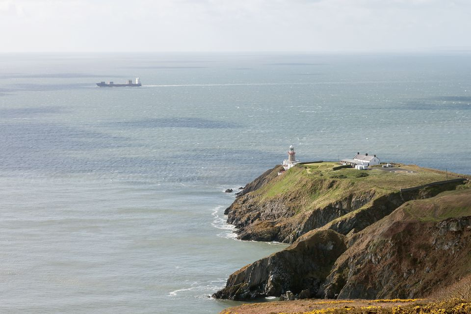 View of Irish Sea from Howth Summit, Baily Lighthouse, Ireland