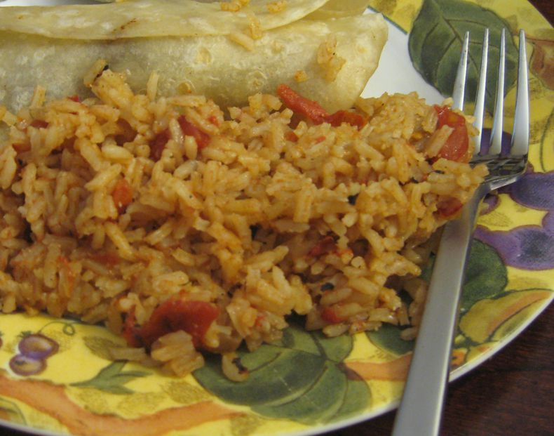 How to make basic mexican red rice or spanish rice 4 mexican rice side dish recipes ccuart Choice Image