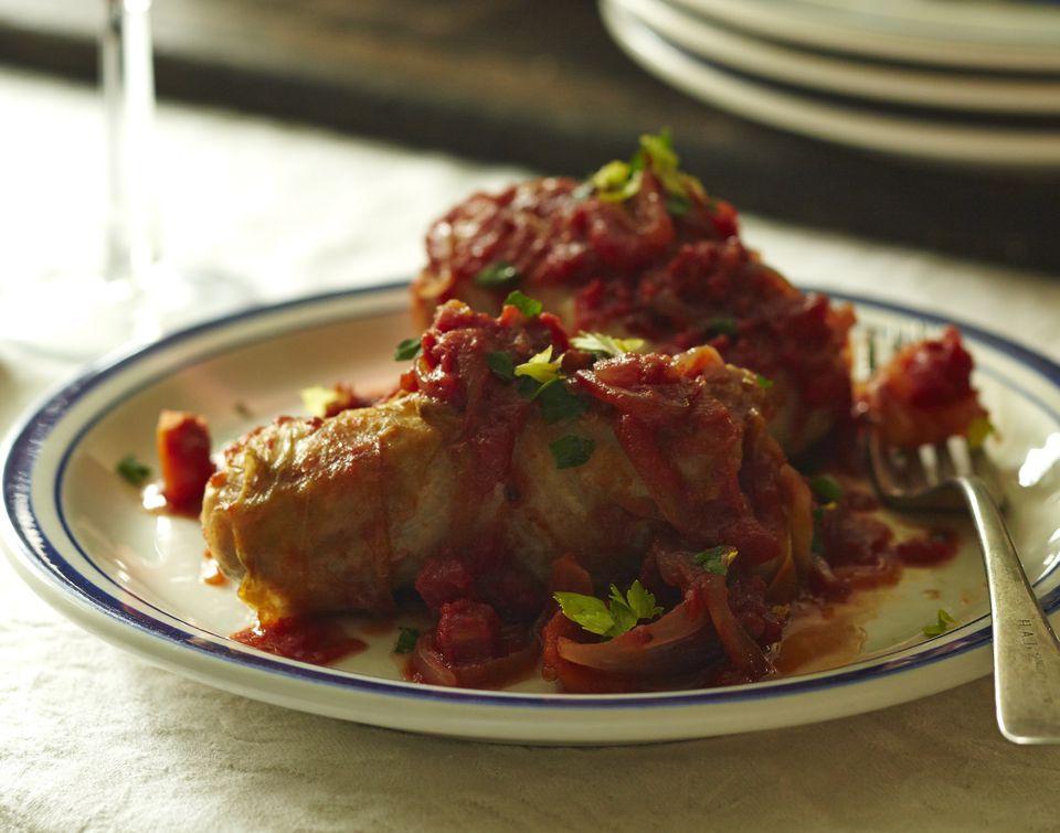 Kimchi-Stuffed Cabbage