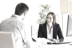 Man giving CV in a job interview