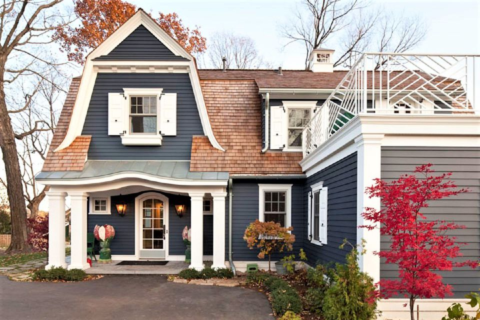 Inspiring exterior house paint color ideas for Blue house builders