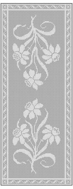 Daffodil Filet Crochet Chart Free Pattern