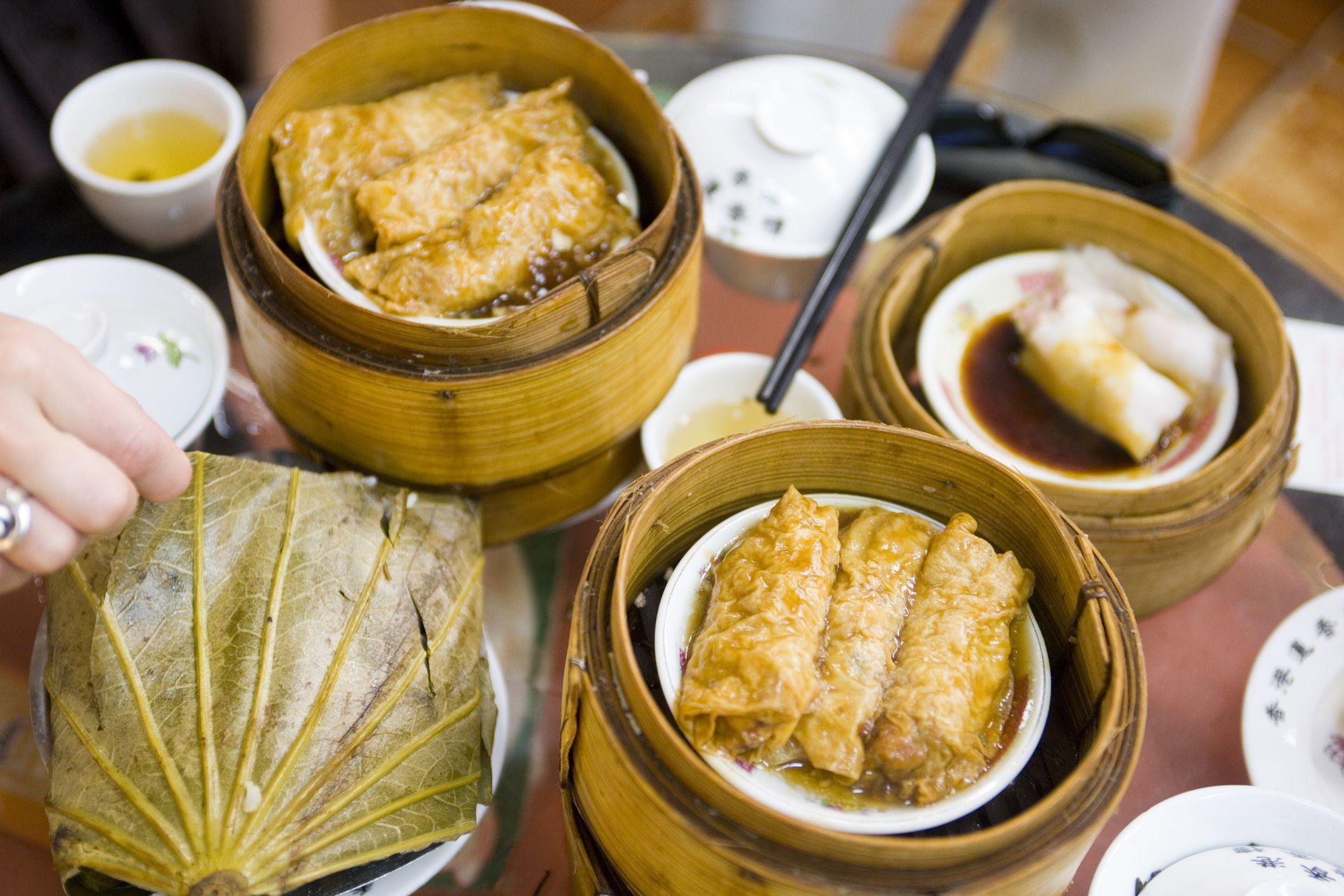 eating chinese yum cha in australia