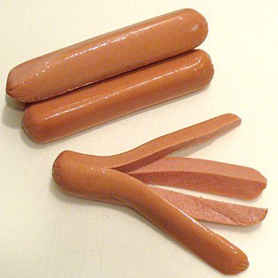 hot dog frankfurther weiner franks octopus recipe receipt sausage